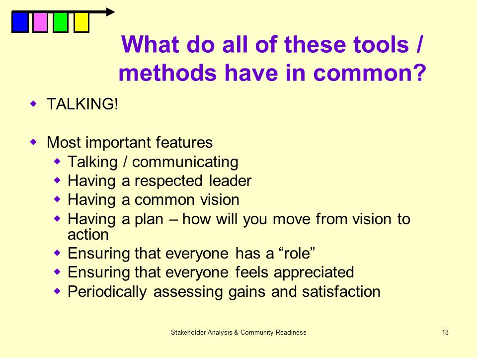 What do all of these tools / methods have in common