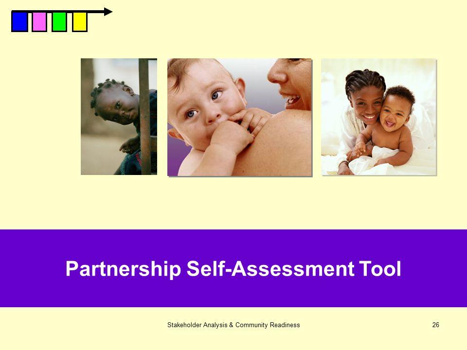 Partnership Self-Assessment Tool