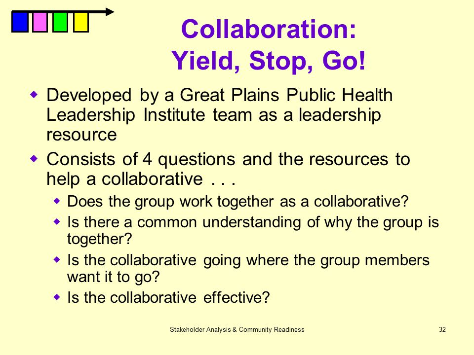 Collaboration: Yield, Stop, Go!