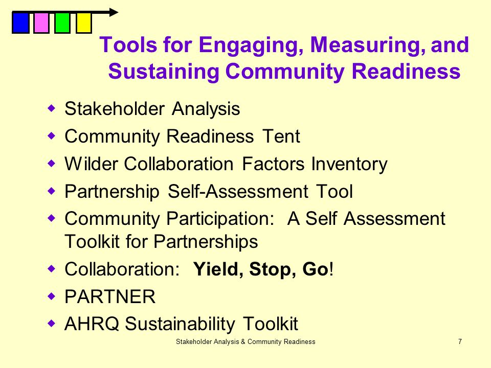 Tools for Engaging, Measuring, and Sustaining Community Readiness