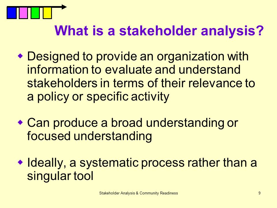 What is a stakeholder analysis