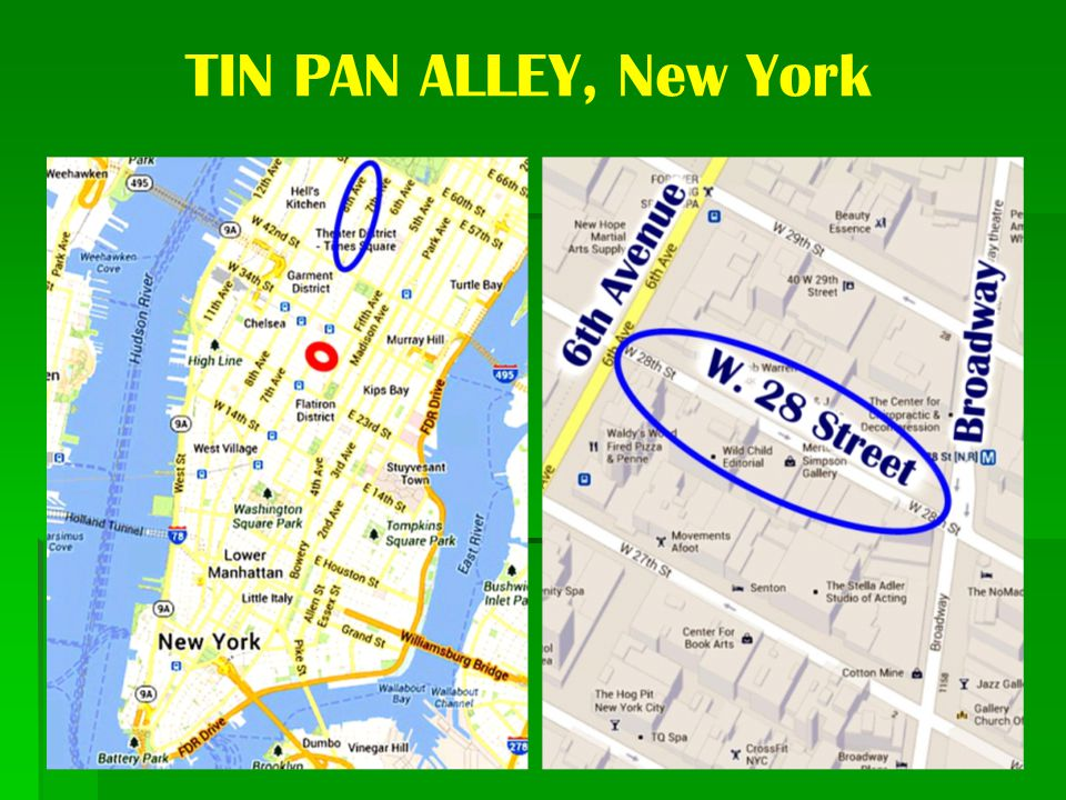 TIN PAN ALLEY, New York