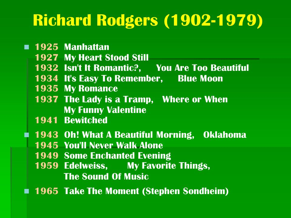 Richard Rodgers (1902-1979)