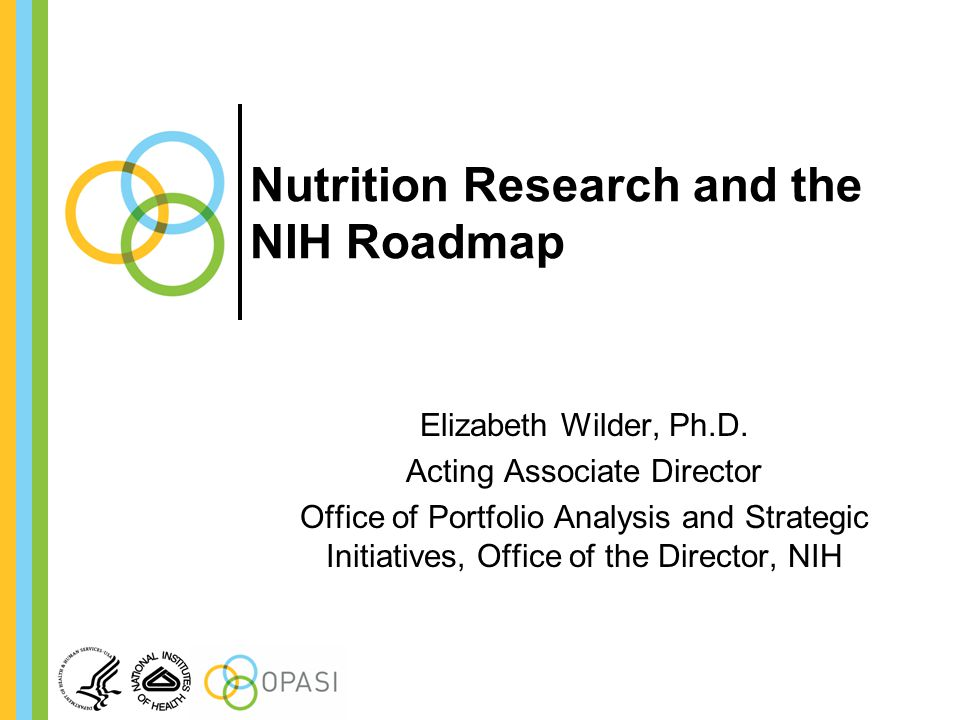 Nutrition Research and the NIH Roadmap