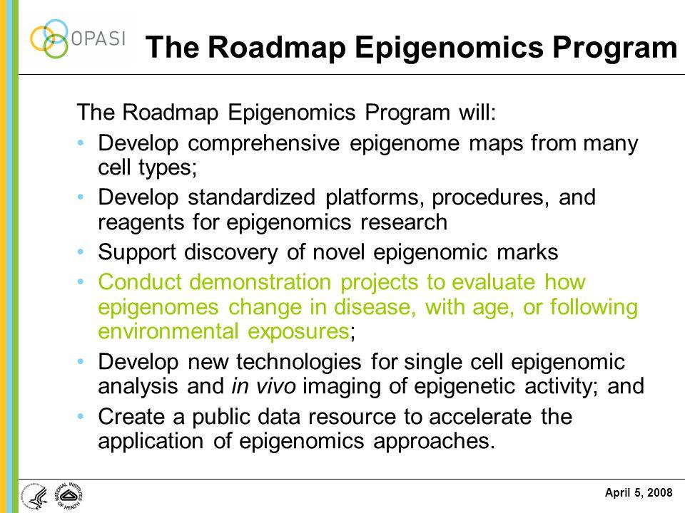 The Roadmap Epigenomics Program