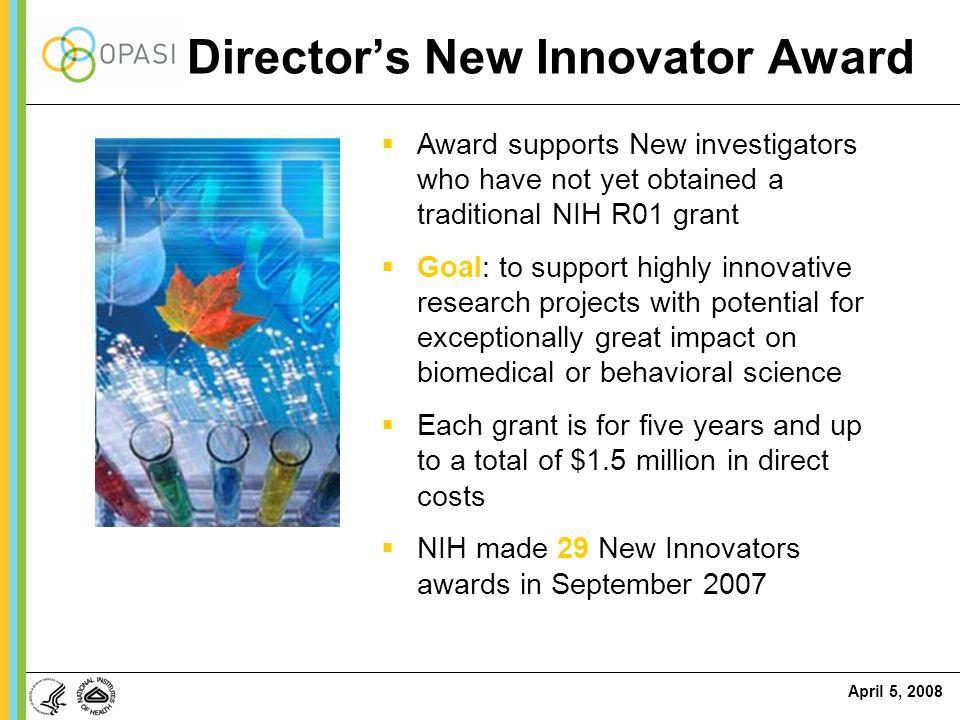 Director's New Innovator Award