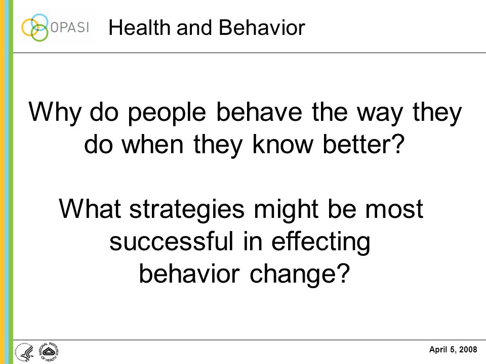 Why do people behave the way they do when they know better