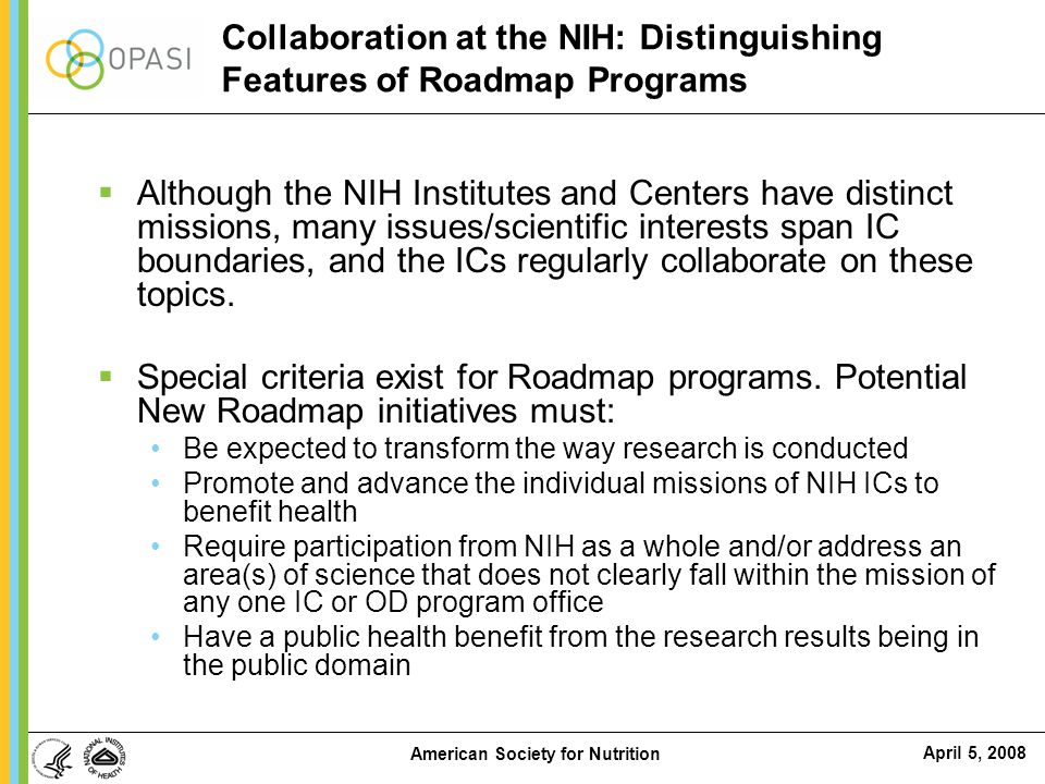 Collaboration at the NIH: Distinguishing Features of Roadmap Programs