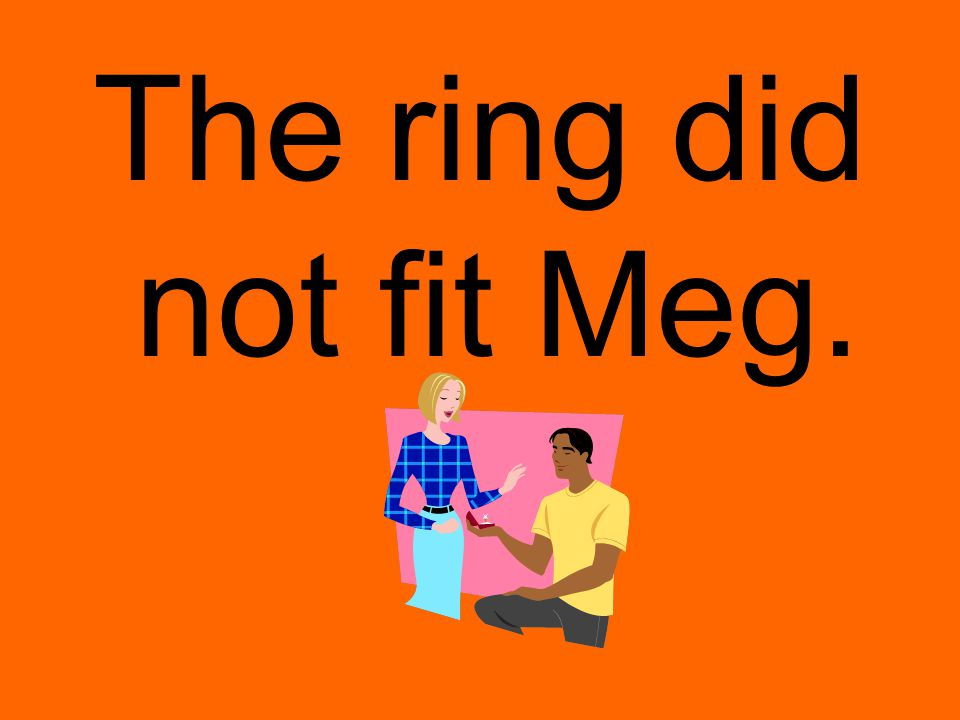 The ring did not fit Meg.