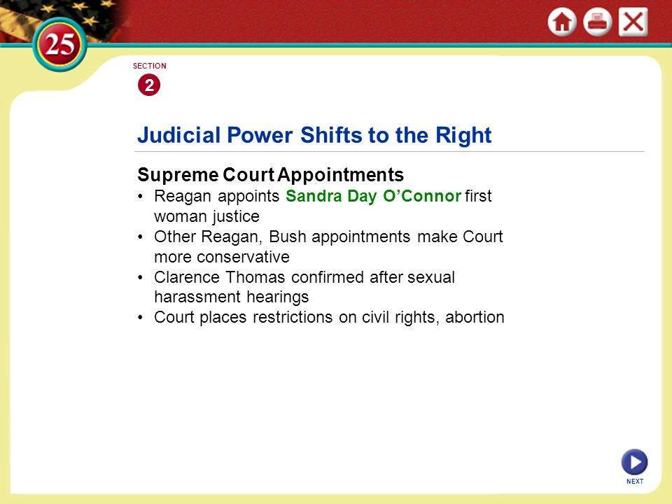 Judicial Power Shifts to the Right