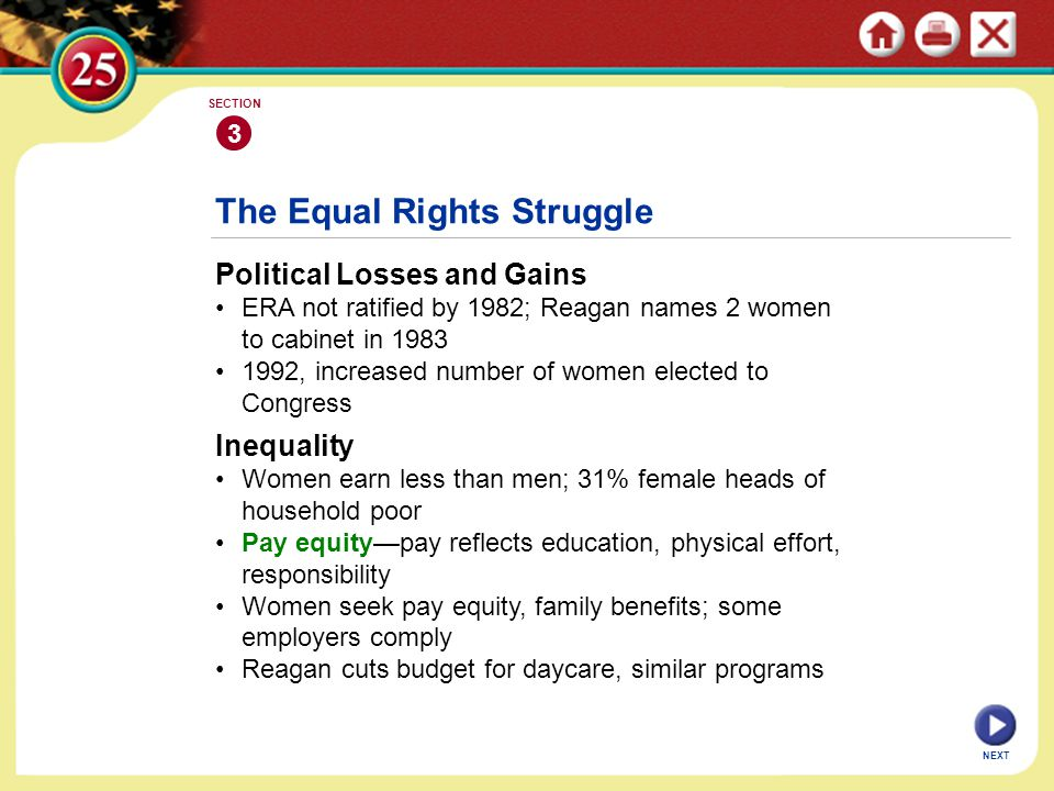 The Equal Rights Struggle