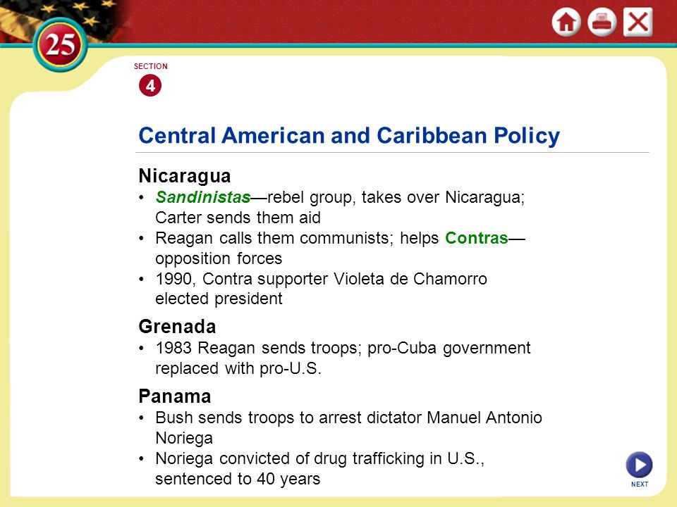 Central American and Caribbean Policy