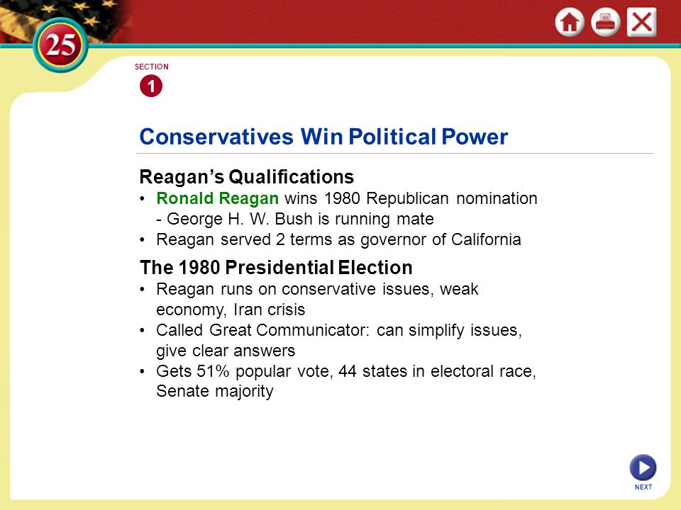 Conservatives Win Political Power