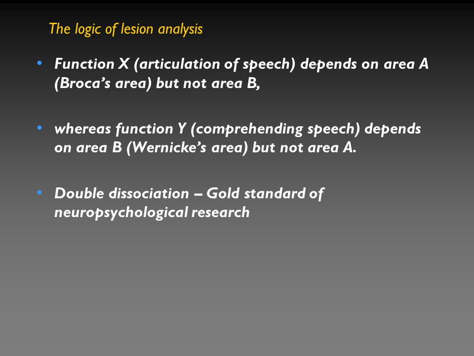 The logic of lesion analysis