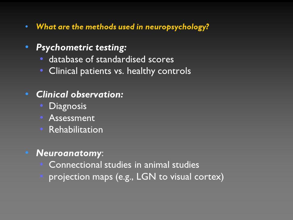 Psychometric testing: database of standardised scores
