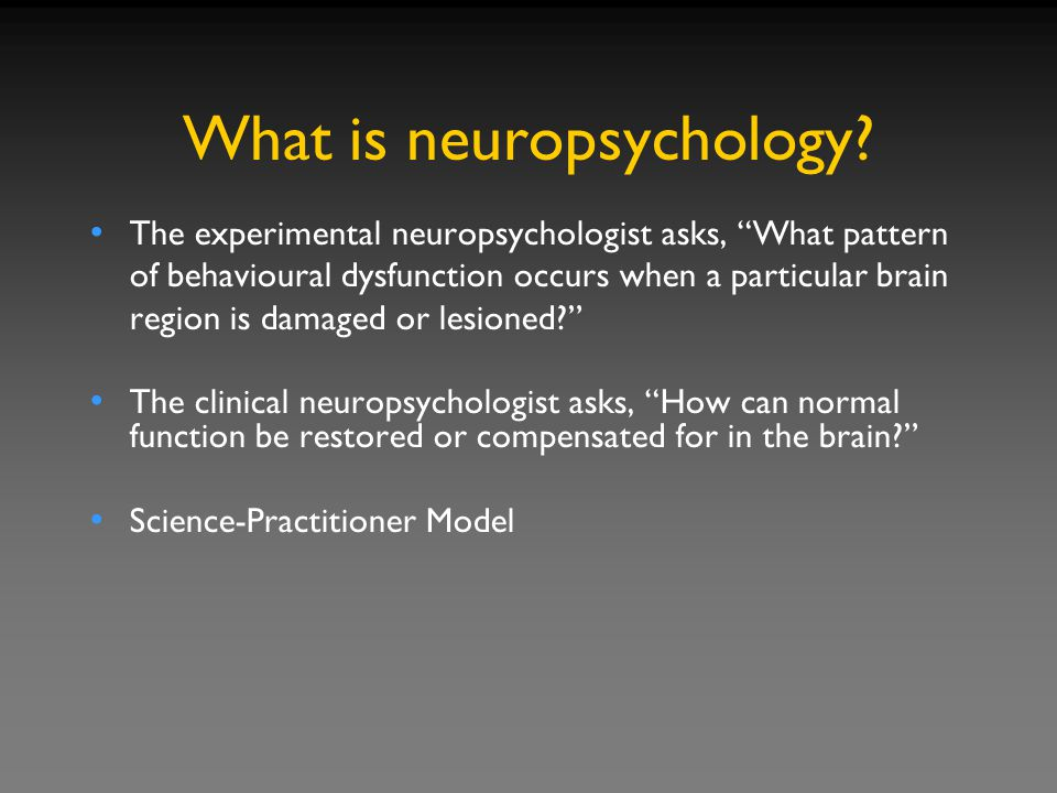 What is neuropsychology