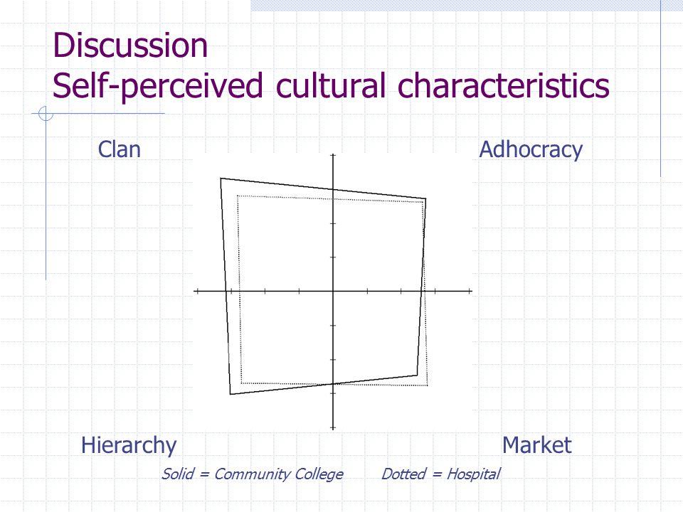 Discussion Self-perceived cultural characteristics