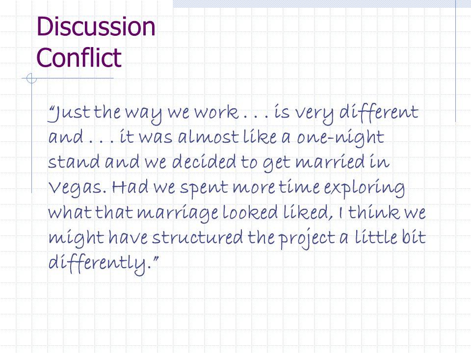 Discussion Conflict