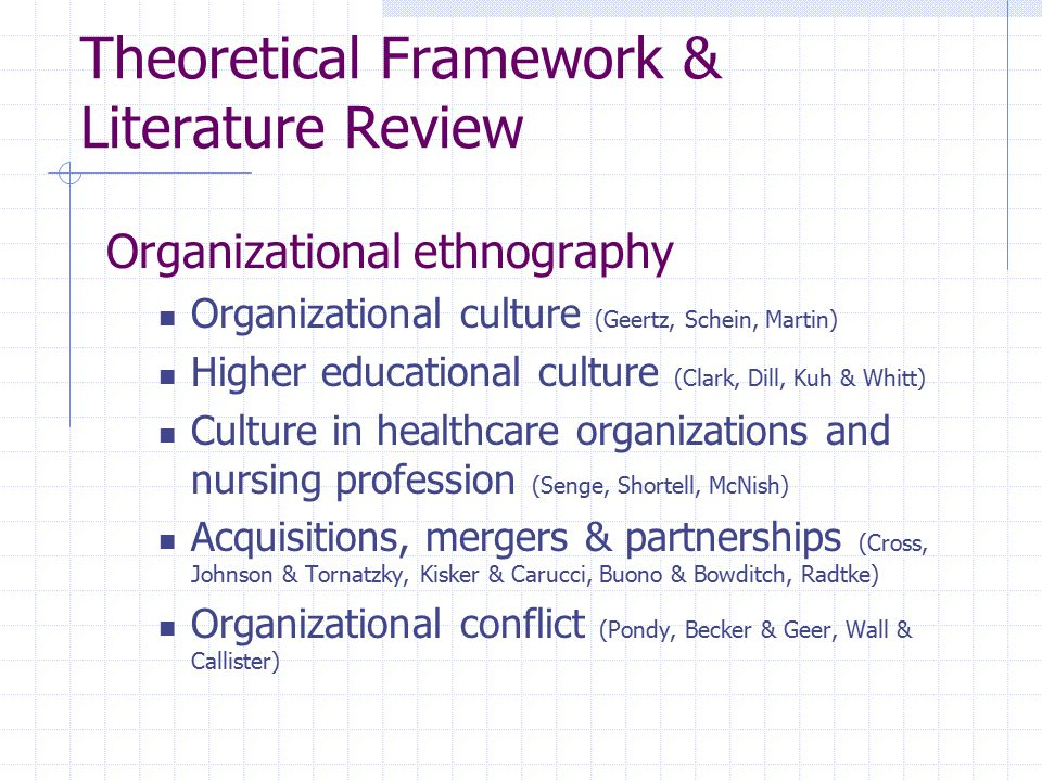 Theoretical Framework & Literature Review