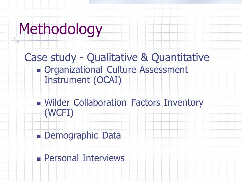Methodology Case study - Qualitative & Quantitative