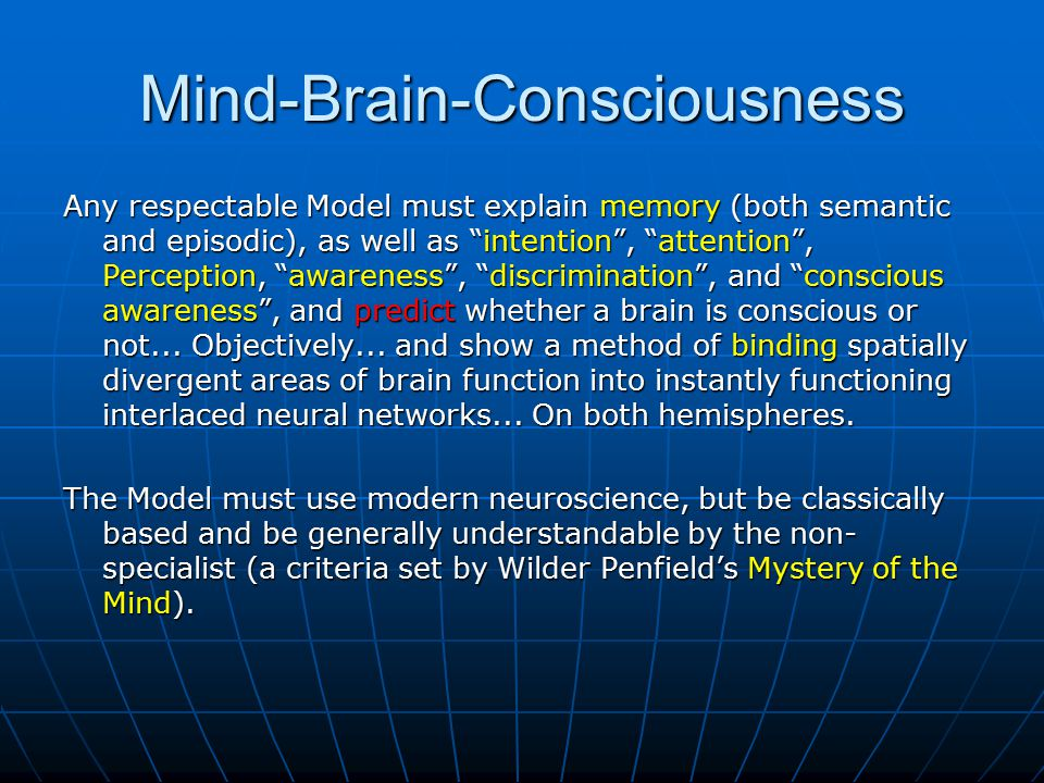 Mind-Brain-Consciousness