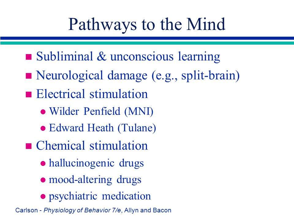 Pathways to the Mind Subliminal & unconscious learning