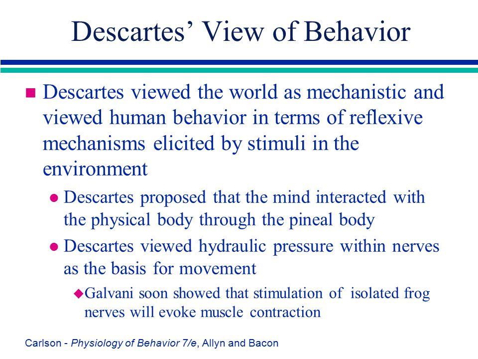 Descartes' View of Behavior