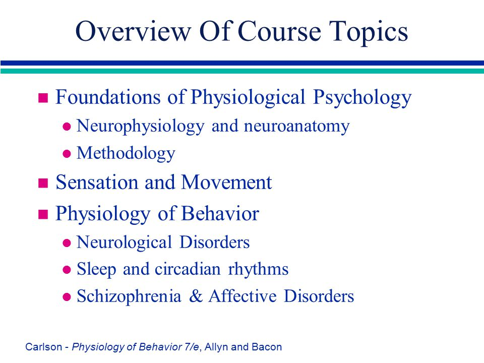 Overview Of Course Topics