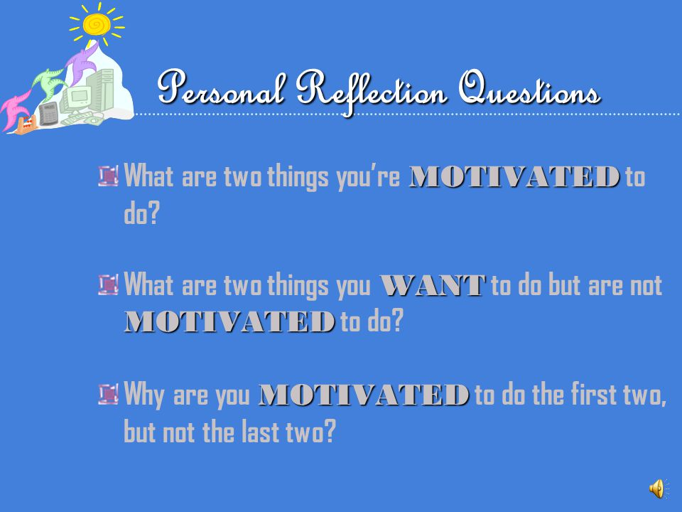 Personal Reflection Questions