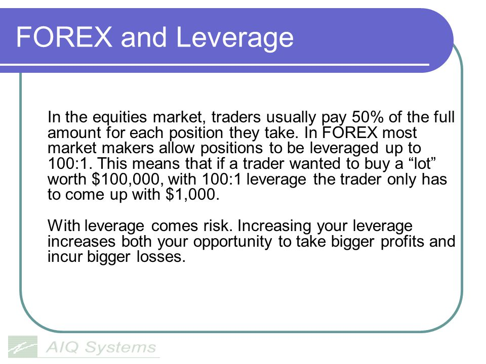 FOREX and Leverage