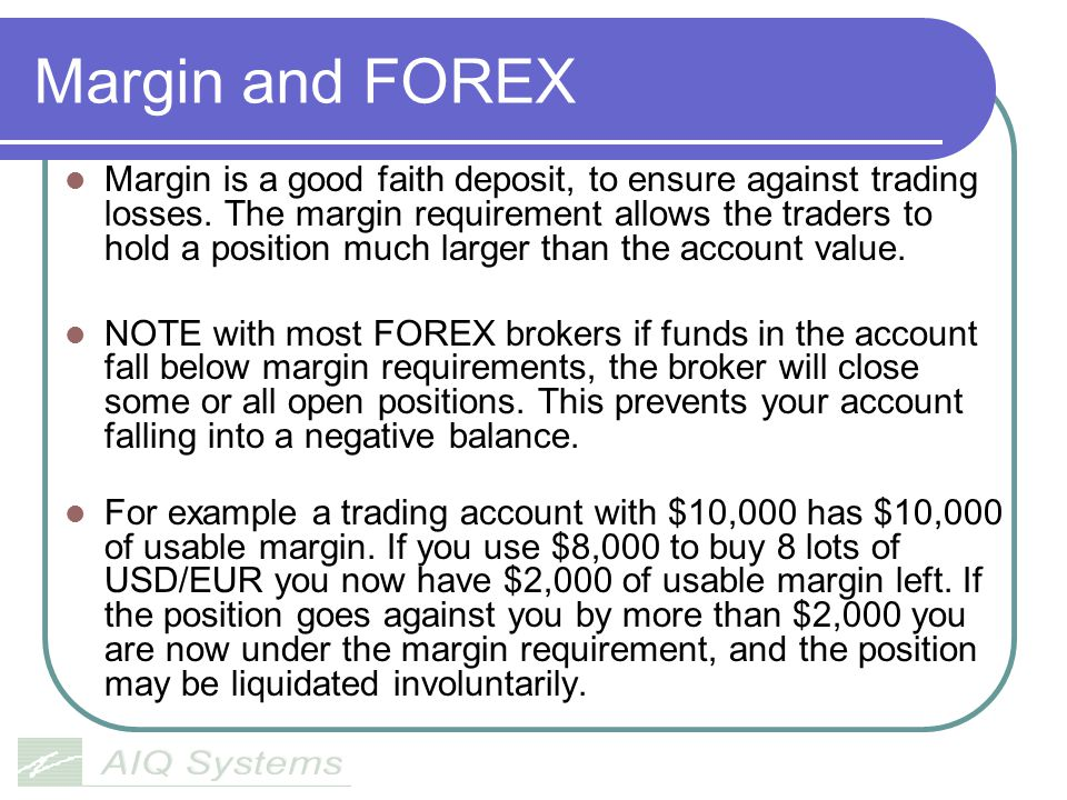 Margin and FOREX