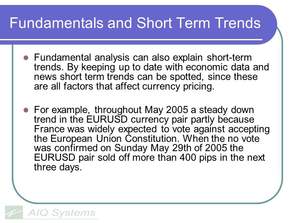 Fundamentals and Short Term Trends