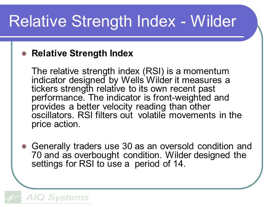 Relative Strength Index - Wilder