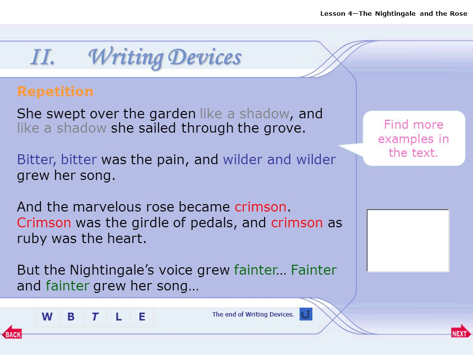 Writing Devices Repetition