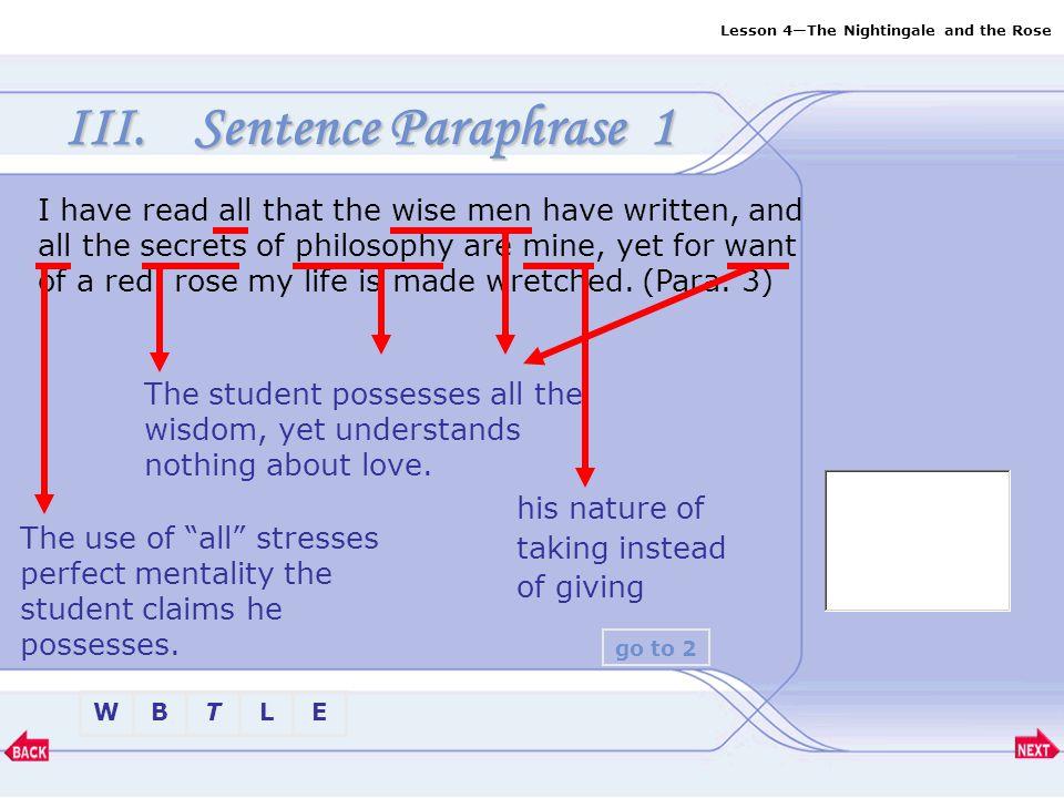 Sentence Paraphrase 1