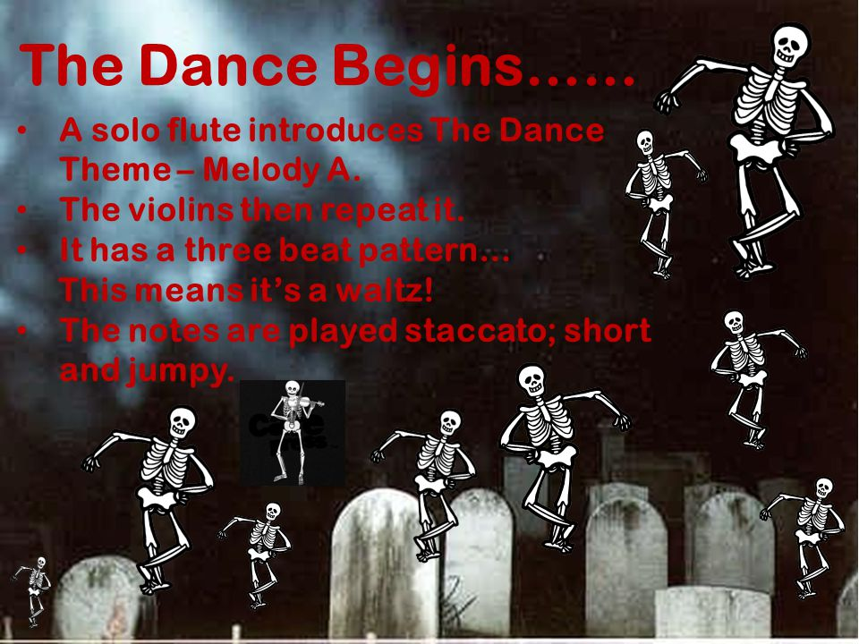 The Dance Begins…… A solo flute introduces The Dance Theme – Melody A.