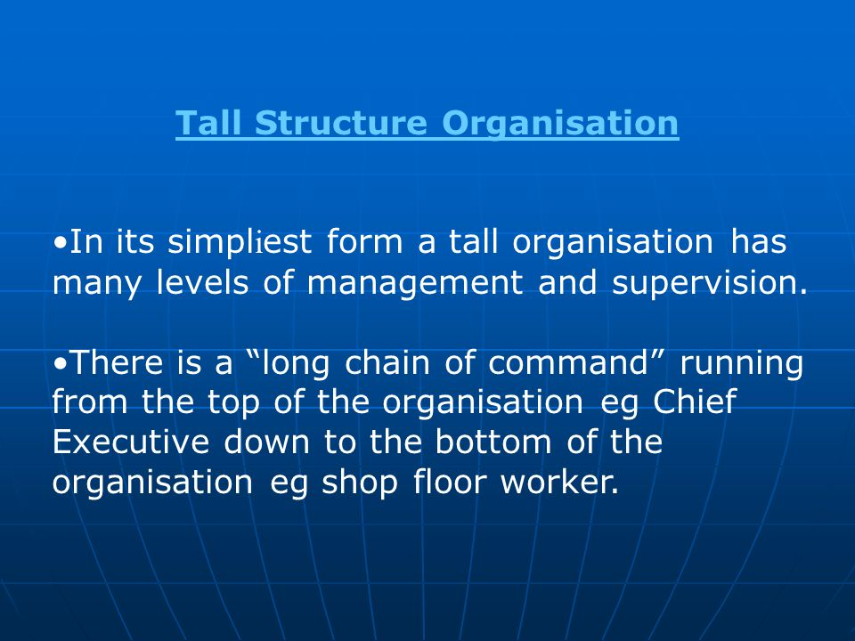 Tall Structure Organisation