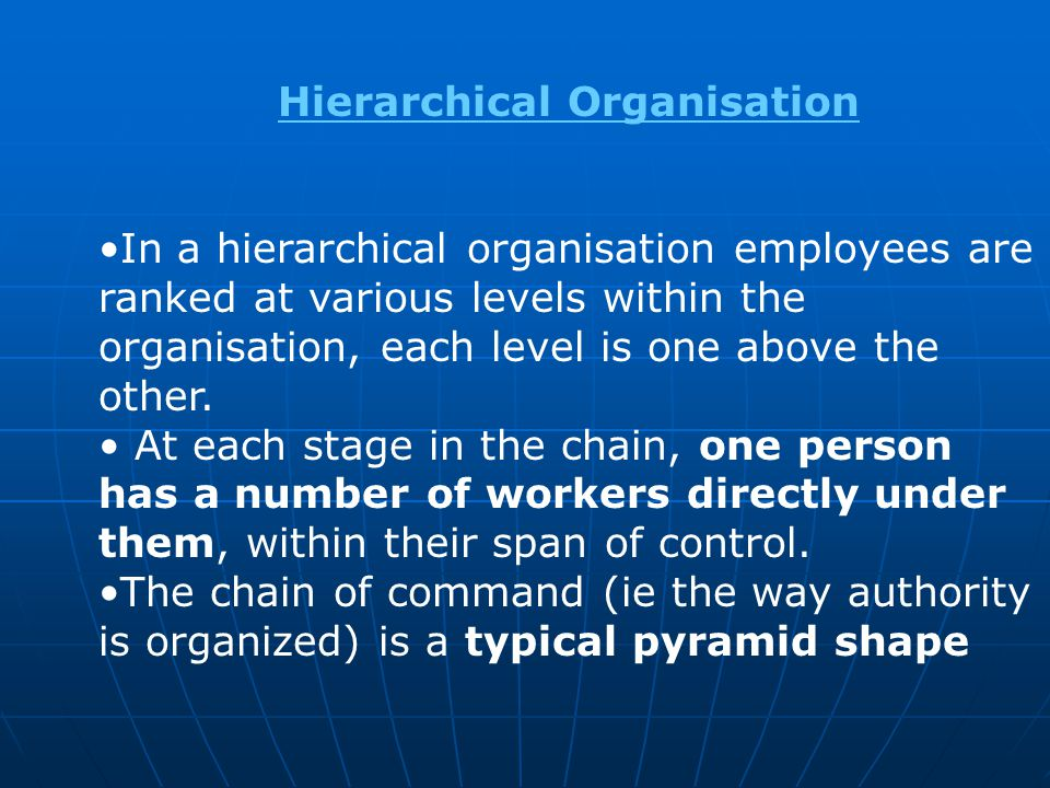 Hierarchical Organisation