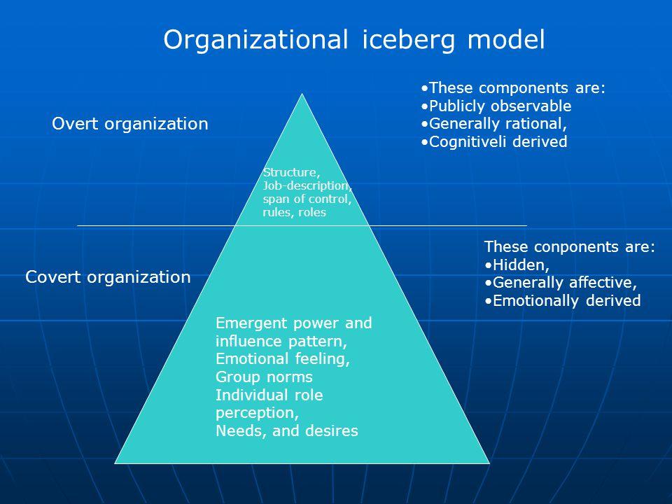 Organizational iceberg model