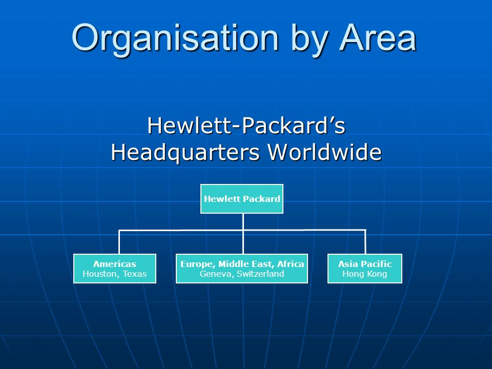 Hewlett-Packard's Headquarters Worldwide