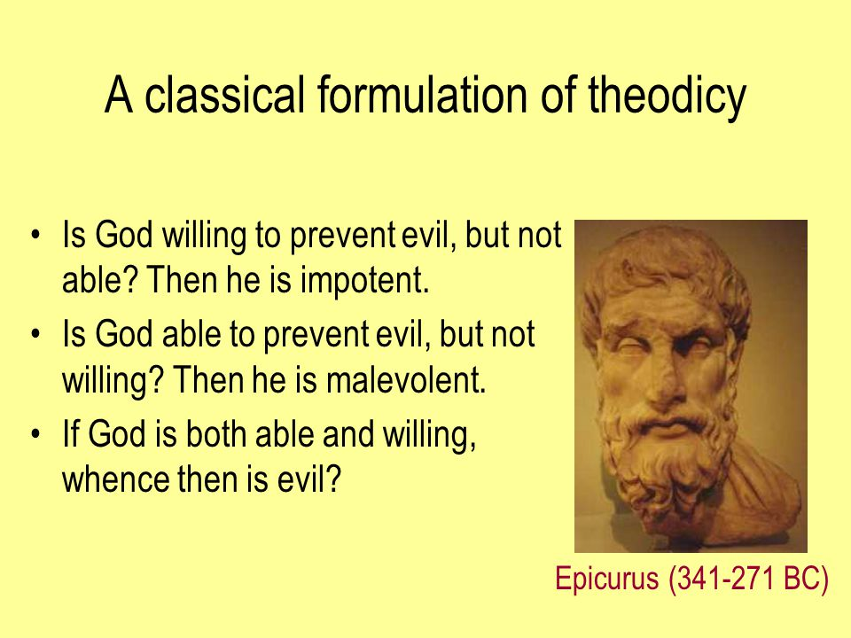 A classical formulation of theodicy