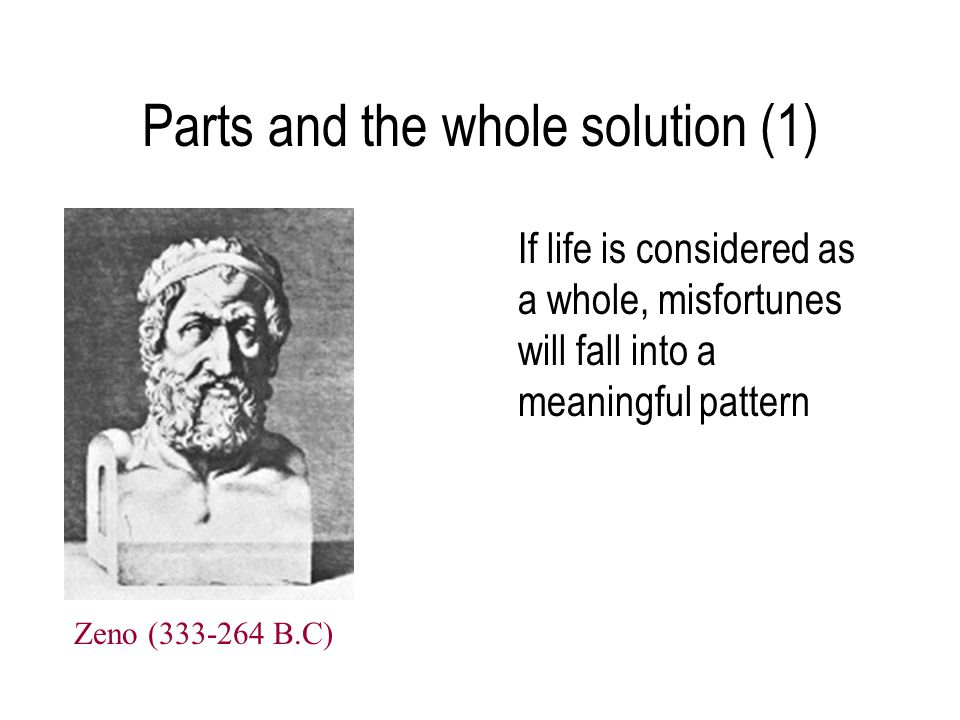 Parts and the whole solution (1)