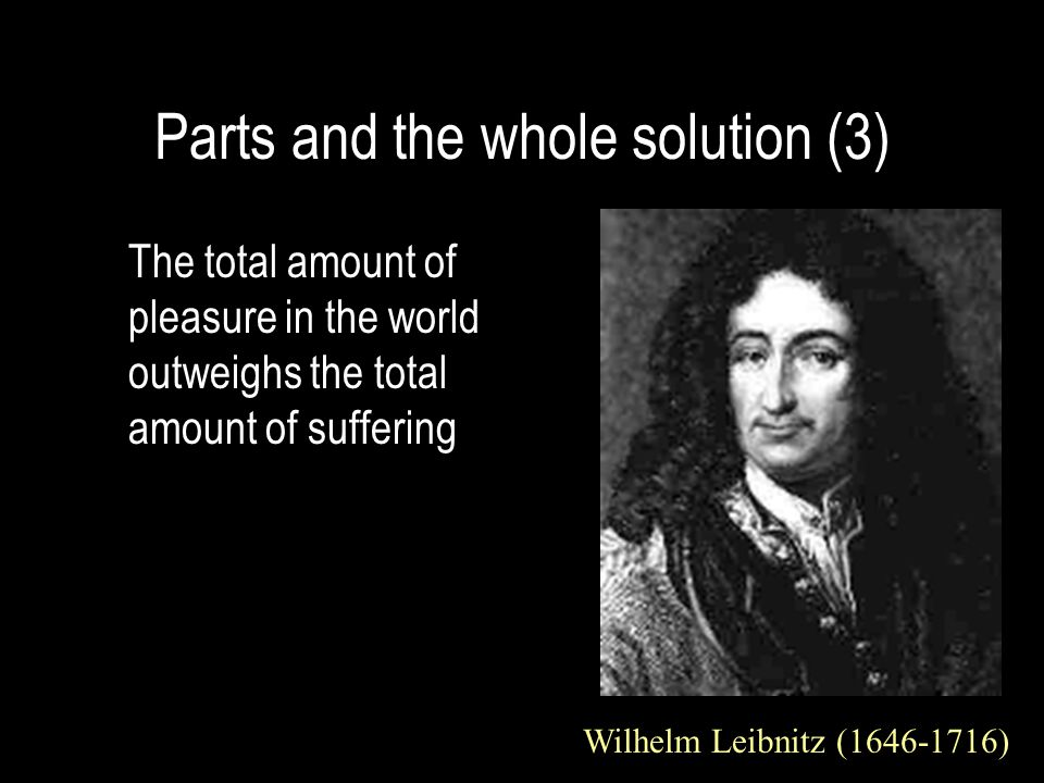 Parts and the whole solution (3)