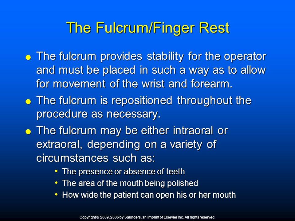 The Fulcrum/Finger Rest
