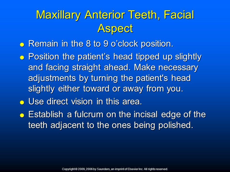 Maxillary Anterior Teeth, Facial Aspect