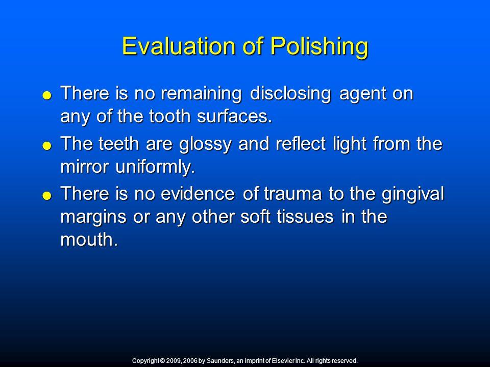 Evaluation of Polishing