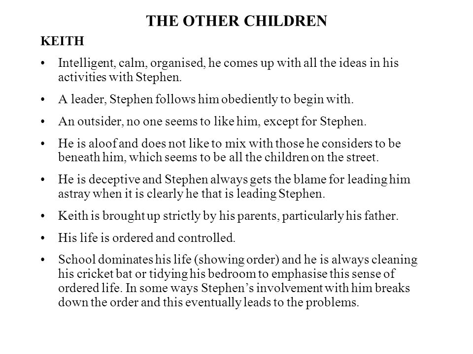 THE OTHER CHILDREN KEITH