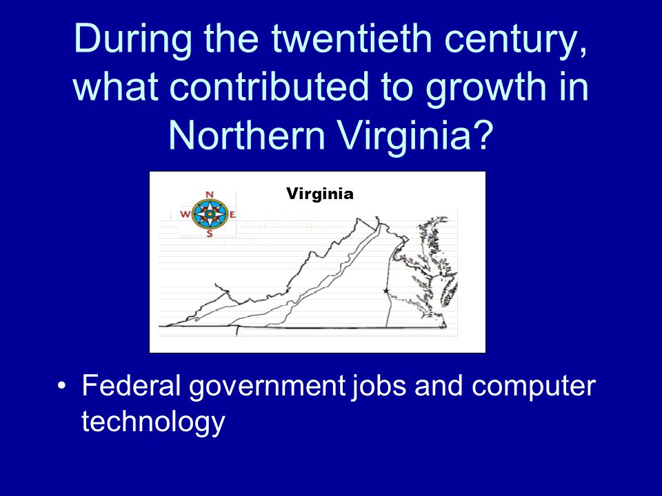 During the twentieth century, what contributed to growth in Northern Virginia