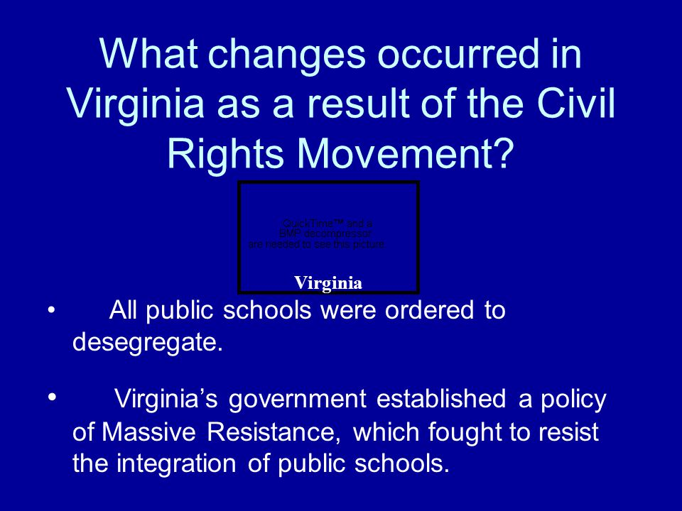 What changes occurred in Virginia as a result of the Civil Rights Movement