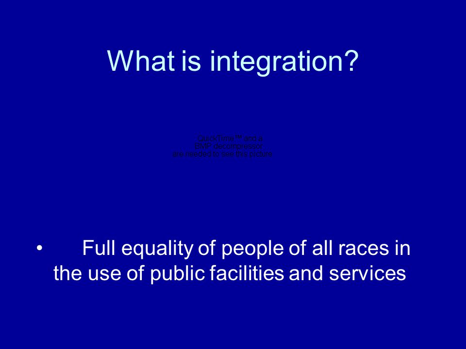 What is integration.